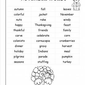 Fresh November Lesson Plans For Preschool November Lesson Plans, Themes, Printouts, Crafts, And Holi