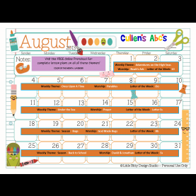 Fresh Pre K Lesson Plans For August Use This Calendar With Your Child Or Classroom And Follow Alon