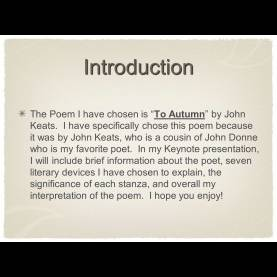 Fresh To Autumn Theme To Autumn John Keats By Peter Moon 8E Ω. - Ppt Video Online Down