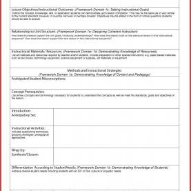 Good Art And Science Lesson Plans How To Create A Lesson Plan Template In Word - Commonpenc