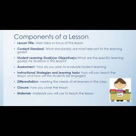 Good Content Focus Of A Lesson Lesson Plans The Uwg Way Block One. Components Of A Lesson Lesso