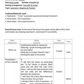 Good English Lesson Plan In Grade 3 Was/were Lesson Plan Worksheet - Free Esl Printable Worksheet
