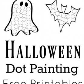 Good Halloween Lesson Plans For Toddlers Halloween Dot Painting {Free Printables   Painting Activities, do