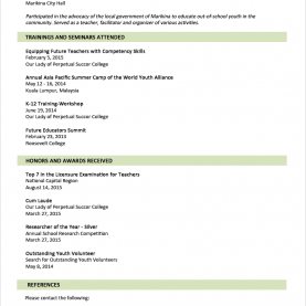 Good Lesson Plan Example Tagalog Sample Resume Format For Fresh Graduates (Two-Page Forma