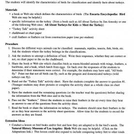 Good Lesson Plan Format Science Turkey Internet Lesson Plan Page 2 - Lessons For Little Ones B