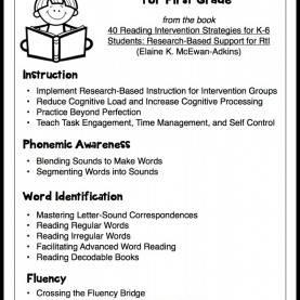 Good Lesson Plan Template Reading Intervention Research-Based Reading Intervention Strategies - Make Take & T