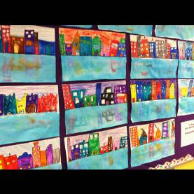Good Second Grade Art Projects Wahoo For Art!: Second Grade Cityscape Reflections | Kid Ar