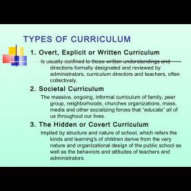 Good Types Of Curriculum Curriculum Models And T