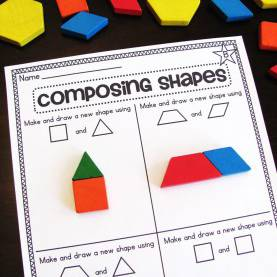 Good What To Teach A 1St Grader Miss Giraffe'S Class: Composing Shapes In 1St G