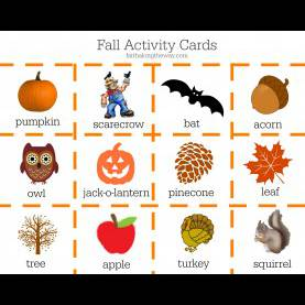 Great Autumn Games For Preschoolers Fall Activities Game €? Craft