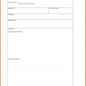 Great Blank Lesson Plan Blank Lesson Plan Template | Art Resume Exam