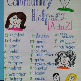 Great Community Helpers From A To Z Lesson Plan Life In First Grade: Community Workers, Sneaky E, And Nonsens
