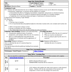 Great How To Make A Lesson Plan For Chemistry 13+ Examples Of Backward Design Lesson Plans   Ledger P