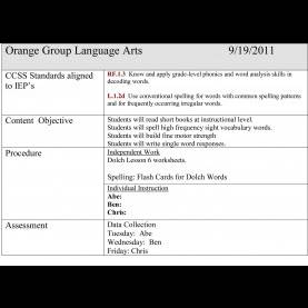 Great How To Write A Lesson Plan Using Common Core Standards Writing Lesson Plans In The Self Contained Classroom | Goa