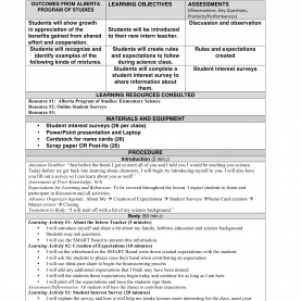 Great Lesson Plan For Science 5 Grade 5 Classroom Chemistry Lesson Plans - Ninja P