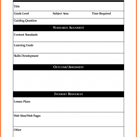 Great Lesson Plan Template Download Free 7+ Free Blank Lesson Plan Templates | Bussines Proposal