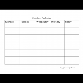 Great Lesson Plan Template Weekly Englishlinx.Com   Lesson Plan Temp