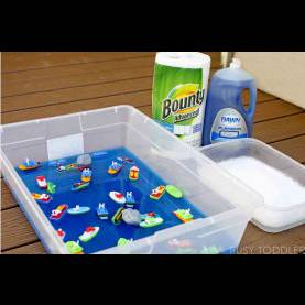 Great Lesson Plans For Toddlers About Boats Messy Boats: Sticky, Yummy Toddler Play - Busy Tod