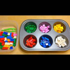 Great Math Activity For Preschoolers Sorting Lego Color Sorting Activity For Preschool Math And Fine Moto