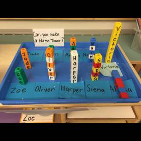 Interesting Creative Curriculum Beginning Of The Year Study Name Tower Name Recognition Fine Motor Building Study (Creativ