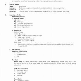 Interesting Detailed Lesson Plan In High School Home Economics Lesson Plans High School Lovely Detailed Lesso