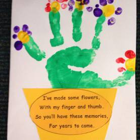 Interesting Infant Lesson Plans For Mother'S Day Mother'S Day Cards With Junior Infants Using Hand Prints An