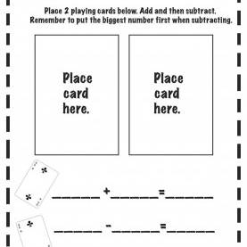 Interesting Lesson Plan For Kindergarten Math Addition Great Idea. Laminate Several And Put In A Center With A Deck O
