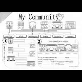 Interesting My Community Worksheets For Kindergarten 37 Free Esl Community Worksh