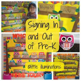 Interesting Pre K Themes For The Year Little Illuminations: Signing In And Out In P