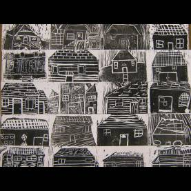 Newest Art Lesson Plans Houses Tributary3.Sgoetsch Collaborative Collograhs Of Students Homes