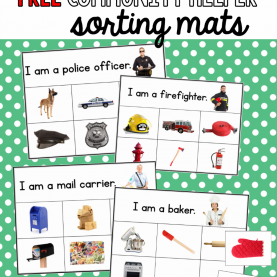 Newest Free Pictures Of Community Helpers Free Sorting Mats For Community Workers - The Measure