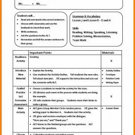 Newest How To Make A Lesson Plan Examples New Sample Lesson Plan Template | Best Templ