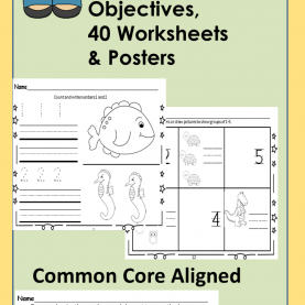 Newest Kindergarten Lesson Plan Counting 1-10 Number Sense Fun 1-10 Unit Printables Common Core Aligned   Tub