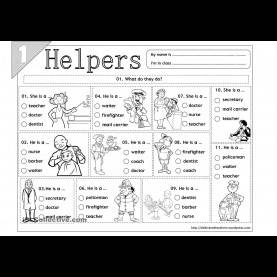 Newest Our Community Helpers Worksheets Worksheets For All | Download And Share Worksheets | Free O