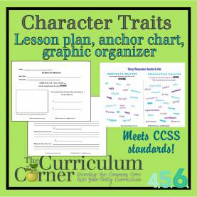Newest Reading Lesson Plans Character Traits Character Traits Versus Physical Traits Lesson Plan, Graphi