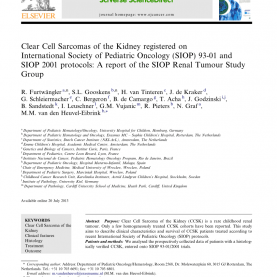 Newest What Does Siop Stand For Clear Cell Sarcomaof The Kidney (Ccsk) Registered On Siop 93-0
