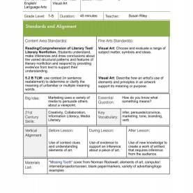 Regular English Lesson Plan Kssr 6Th Grade Lessons Middle School Language Arts Help Imagery Lesso