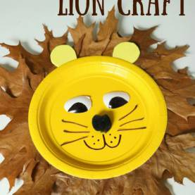 Regular Fall Leaf Crafts For Kids Fall Leaf Lion From Paper Plate Craft For Kids | All About Th