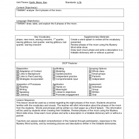 Regular Free Siop Lesson Plan Template 1 Siop Lesson Plan Template 1 Choice Image - Templates Design I