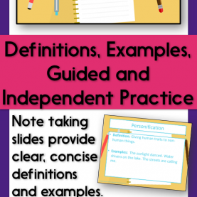 Regular Guided And Independent Practice Figurative Language Note Taking Powerpoint With Guide