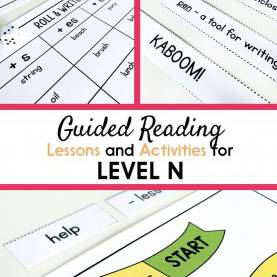 Regular Guided Writing Lesson Plan Template Guided Reading Activities And Lesson Plans For Level N   Guide