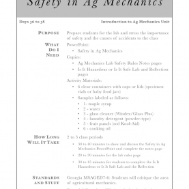 Regular How To Prepare Lesson Note For Secondary School 7-11 Intro To Safety In Ag Mechanics, Lesson Plan Download | A