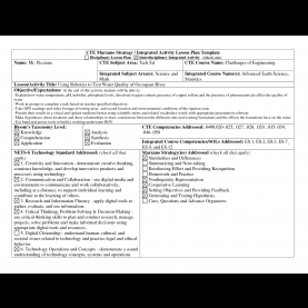 Regular Integrated Science Lesson Plan This Has A Few I Would Add To My Existing Template. | Educatio