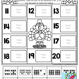 Regular Lesson Plans For Teaching Numbers 11-20 Count Up To 20! Cut And Paste The Set That Matches Each Numbe