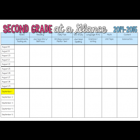 Simple 2 Page Weekly Lesson Plan Template Sharing My Long Range Plans (Sunny Days In Second Grade) | Range