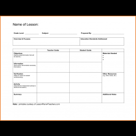 Simple A Blank Lesson Plan Template Blank Lesson Plan Template | Art Resume Sk