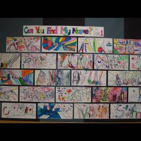 Simple Art Ideas For Grade 3 Name Art Lessons - Google Search | Arted - Name Art | Pinteres