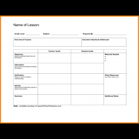 Simple Blank Lesson Plan Template Elementary 3+ Blank Lesson Plans Templates | Manager Re
