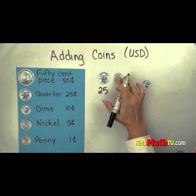 Simple Counting Money Lesson Plans 2Nd Grade Money Lesson On Adding Coins -Usd. Math Tutorial For Kids In