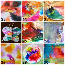 Simple Easy Art Lessons For Kids 50 Easy Process Art Activities For Kids   Process Art, Ar